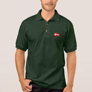 La bandera de Dinamarca Camiseta Polo