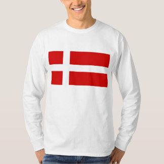 La bandera de Dinamarca Playera