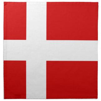 La bandera de Dinamarca Servilleta