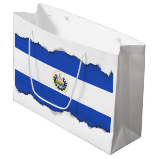 La bandera de El Salvador Bolsa De Regalo Grande