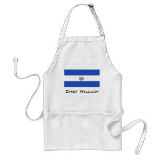 La bandera de El Salvador Delantal