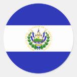 La bandera de El Salvador. Etiqueta