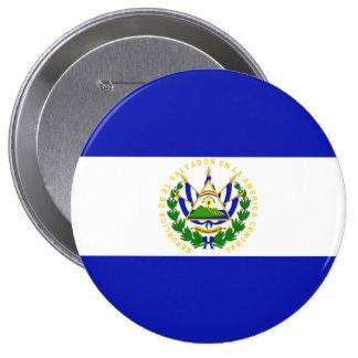 La bandera de El Salvador. Pin Redondo 10 Cm