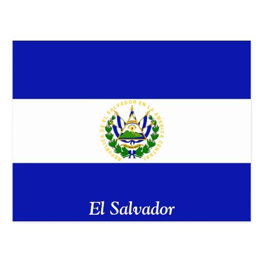 La bandera de El Salvador. Postales
