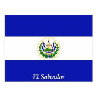 La bandera de El Salvador. Tarjetas Postales
