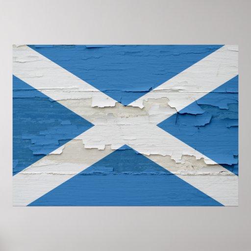 La bandera de Escocia resistió Póster