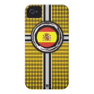 La bandera de España graba en relieve la caja amar Case-Mate iPhone 4 Cárcasa
