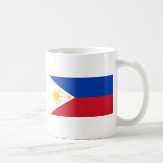 La bandera de Filipinas (Pilipinas) Taza Básica Blanca