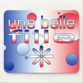 La bandera de Fille Francia de la belleza de Une c Alfombrilla De Raton