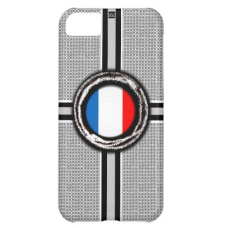 La bandera de Francia graba en relieve la caja de