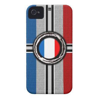 La bandera de Francia graba en relieve la caja de  iPhone 4 Coberturas