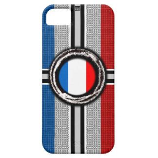 La bandera de Francia graba en relieve la caja de  iPhone 5 Cárcasa