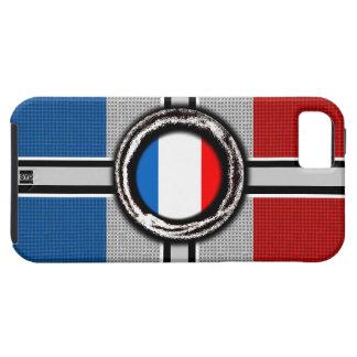 La bandera de Francia graba en relieve la caja del iPhone 5 Protectores
