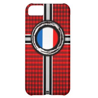 La bandera de Francia graba en relieve la caja roj