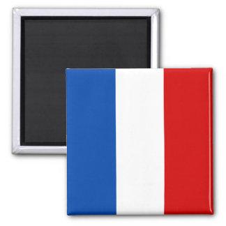 La bandera de Francia Imán Cuadrado