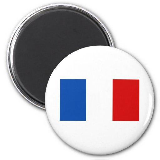 La bandera de Francia Imán Redondo 5 Cm