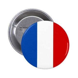 La bandera de Francia Pin Redondo De 2 Pulgadas