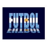 La bandera de Futbol redactó los regalos de la Tarjeta Postal