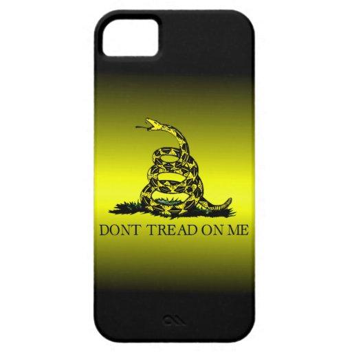La bandera de Gadsden amarilla y negra se descolor iPhone 5 Case-Mate Coberturas