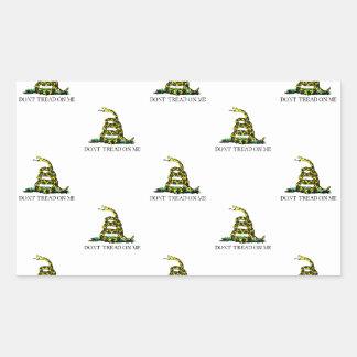 La bandera de Gadsden arrolló imagen tejada Rectangular Altavoces