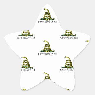 La bandera de Gadsden arrolló imagen tejada Calcomanía Forma De Estrella Personalizadas