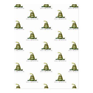 La bandera de Gadsden arrolló imagen tejada Postales
