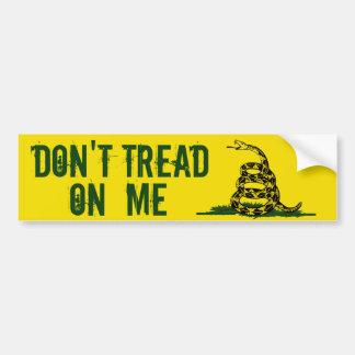 La bandera de Gadsden no pisa en mí Pegatina Para Coche