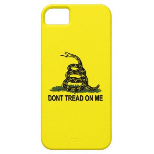 La bandera de Gadsden no pisa en mí iPhone 5 Case-Mate Protector