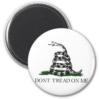 """La bandera de Gadsden """"no pisa en mí """" Imán Para Frigorífico"""