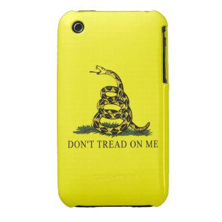 La bandera de Gadsden no pisa en mí iPhone 3 Case-Mate Cárcasa