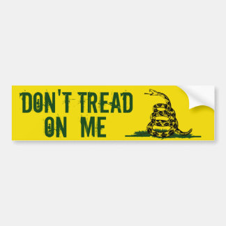 La bandera de Gadsden no pisa en mí Pegatina Para Auto