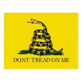 La bandera de Gadsden no pisa en mí Postal