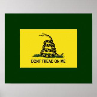 La bandera de Gadsden no pisa en mí Póster
