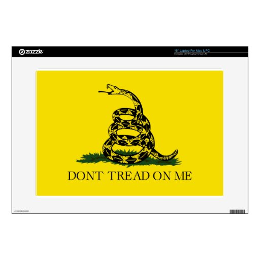 La bandera de Gadsden, no pisa en mí Skins Para Portátil