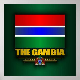 La bandera de Gambia Póster