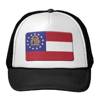 La bandera de Georgia los E.E.U.U. PERSONALIZA Gorros Bordados
