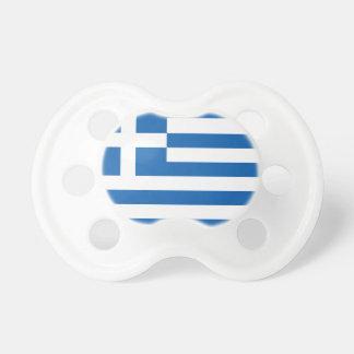 La bandera de Grecia Chupetes De Bebé