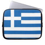 La bandera de Grecia Funda Computadora