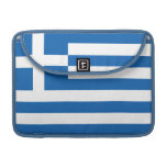 La bandera de Grecia Funda Para Macbooks