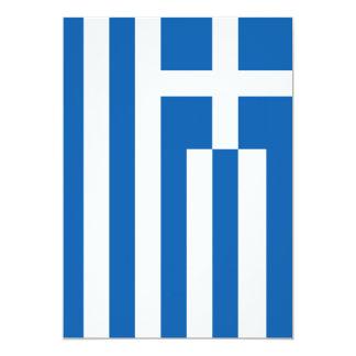 La bandera de Grecia Invitación 12,7 X 17,8 Cm