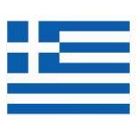 La bandera de Grecia Postales