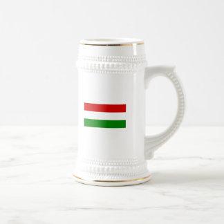 La bandera de Hungría Jarra De Cerveza