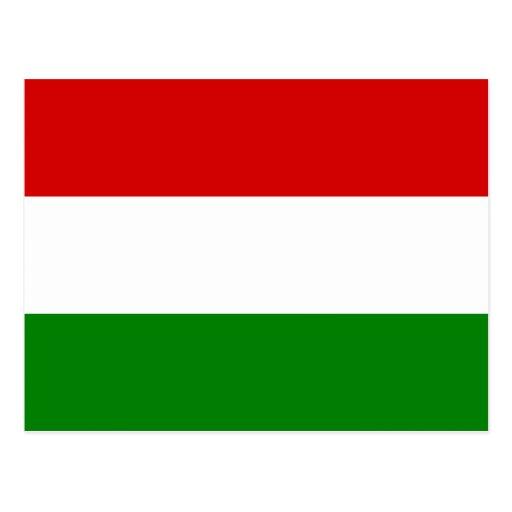 La bandera de Hungría Tarjetas Postales