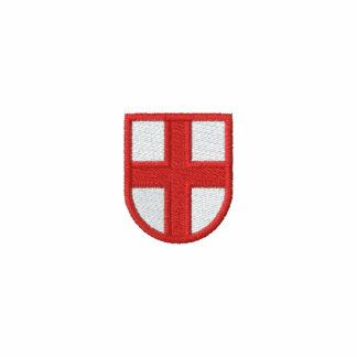 La bandera de Inglaterra bordó la camisa Camiseta Polo Bordada