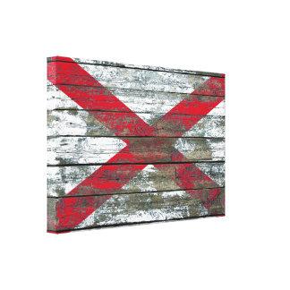 La bandera de Irlanda del Norte en la madera Impresiones En Lona Estiradas