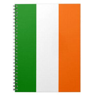 La bandera de Irlanda Libro De Apuntes Con Espiral