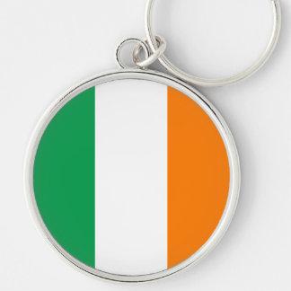 La bandera de Irlanda, tricolor irlandés Llaveros