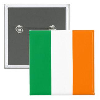 La bandera de Irlanda, tricolor irlandés Pin Cuadrado