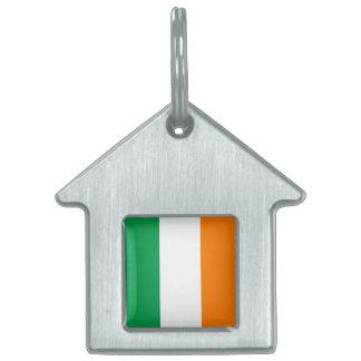 La bandera de Irlanda, tricolor irlandés Placas De Nombre De Mascota