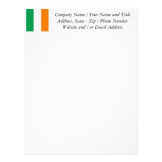 La bandera de Irlanda, tricolor irlandés Plantillas De Membrete